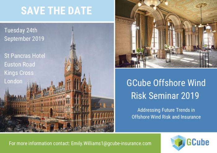 Offshore wind risk seminar 2019 save the date New